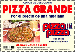 Ofertas de Restaurantes  en el catálogo de Pizza Pizza en Huechuraba