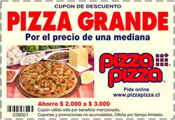 Ofertas de Pizza Pizza  en el catálogo de Santiago