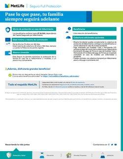 Ofertas de Bancos y Servicios en el catálogo de MetLife ( Más de un mes)