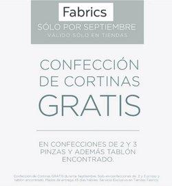 Ofertas de Fabrics en el catálogo de Fabrics ( 6 días más)