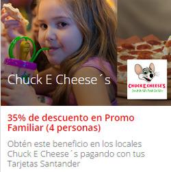 Ofertas de Chuck E. Cheese´s  en el catálogo de Santiago
