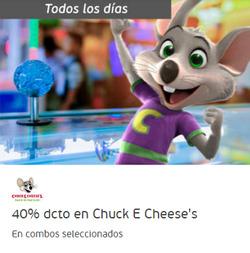 Ofertas de Restaurantes  en el catálogo de Chuck E. Cheese´s en Providencia