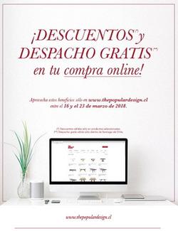 Ofertas de The Popular Design  en el catálogo de Santiago