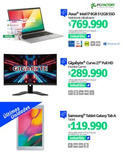 Ofertas de PC Factory en el catálogo de PC Factory ( Vence mañana)