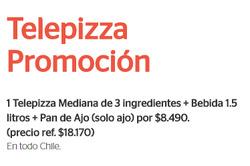 Ofertas de Telepizza  en el catálogo de Peñalolén