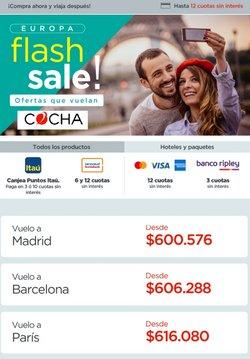 Ofertas de Viajes y Ocio en el catálogo de Cocha ( Publicado hoy)