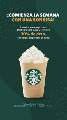Ofertas de Restaurantes y Pastelerías en el catálogo de Starbucks ( 4 días más)