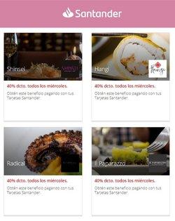 Ofertas de Bancos y Servicios en el catálogo de Santander ( Vence mañana)