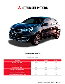 Ofertas de Mitsubishi  en el catálogo de Santiago