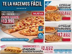 Catálogo Domino's Pizza ( 12 días más)