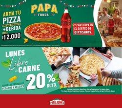 Ofertas de Restaurantes y Pastelerías en el catálogo de Papa John's ( Vence mañana)