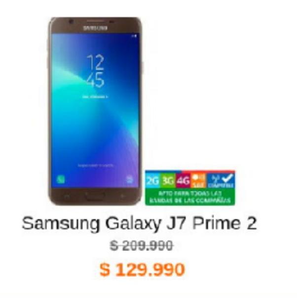 Oferta de Samsung Galaxy J7 Samsung por $129990