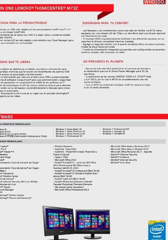 Oferta de Computadoras Lenovo por
