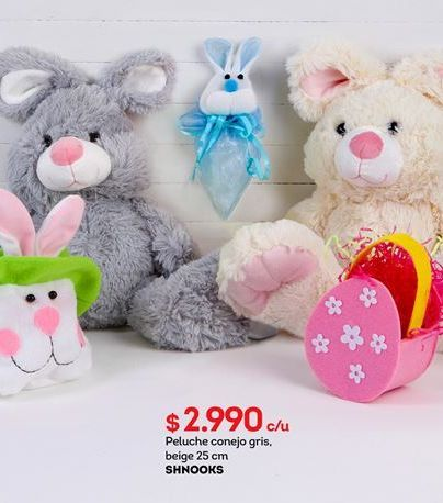 Oferta de Peluches animales SHNOOKS por $2990