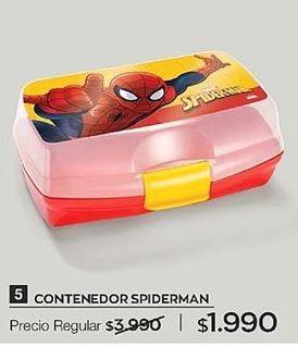 Oferta de Contenedor Spiderman por $1990