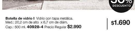 Oferta de Botella de vidrio por $1690