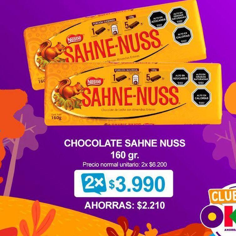 Oferta de Chocolate con almendras Sahne Nuss por $3990