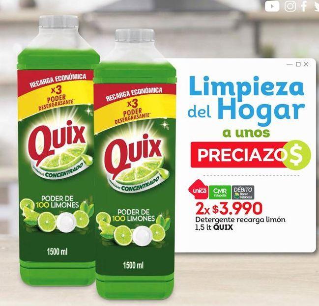 Oferta de Detergente Quix por $3990