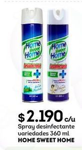 Oferta de Spray desinfectante HOME SWEET HOME por $2190