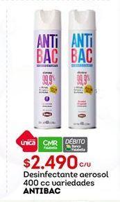 Oferta de Desinfectante aerosol antibac por $2490