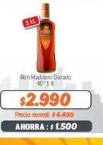 Oferta de Ron Maddero Dorado por $2990