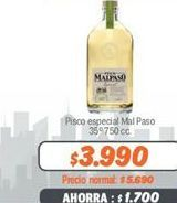 Oferta de Pisco especial Mal Paso por $3990