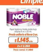Oferta de Papel higiénico Noble por $1145