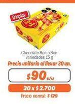 Oferta de Chocolate Bon o Bon por $90