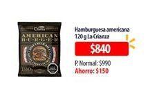 Oferta de Hamburguesas americanas La Crianza por $840