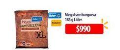 Oferta de Mega hamburguesas Lider por $990