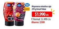 Oferta de Mayonesa GREAT VALUE por $1990