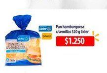 Oferta de Pan de hamburguesa Lider por $1250
