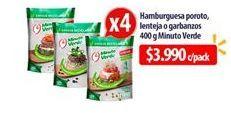 Oferta de Hamburguesa poroto, lenteja o garbanzos Minuto Verde por $3990