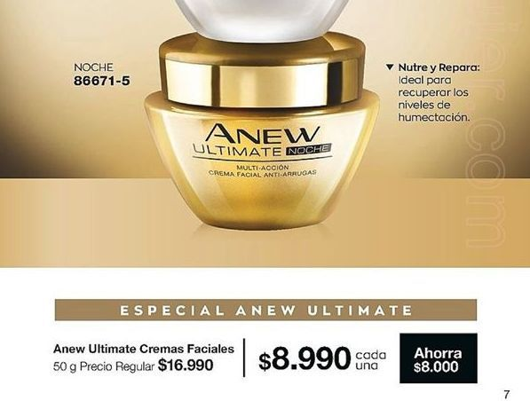 Oferta de Crema de noche Anew por $8990