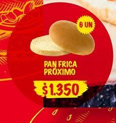 Oferta de Pan Frica Próximo por $1350