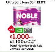 Oferta de Papel higiénico Noble por $1100