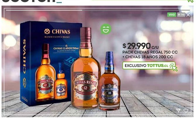 Oferta de Whisky Chivas Regal por $29990