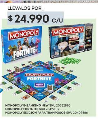 Oferta de Juegos de mesa infantiles Monopoly por $24990