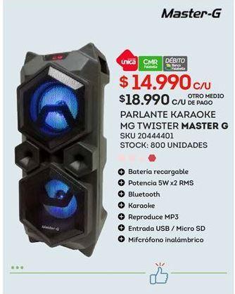 Ofertas de Parlantes Master G por $14990