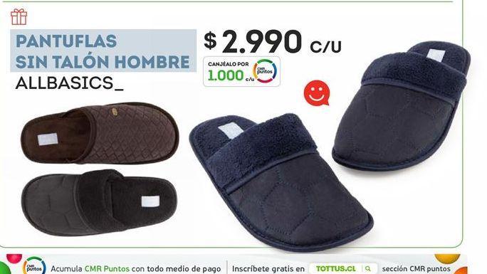 Oferta de Pantuflas sin talon hombre allbasics por $2990