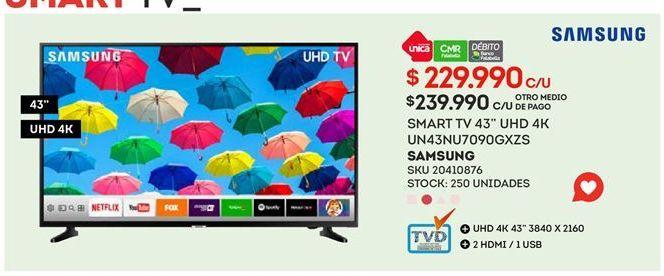 Oferta de Smart tv Samsung por $229990