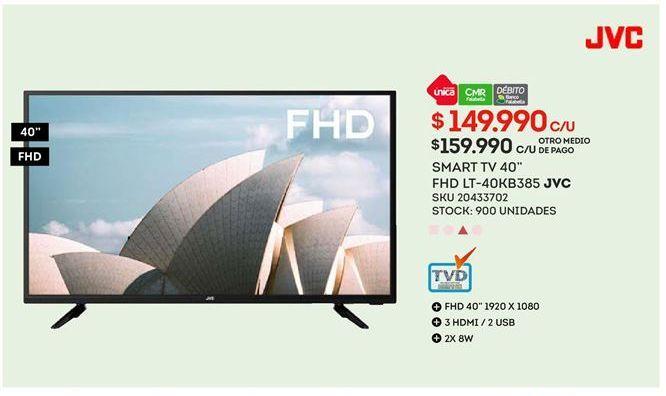 Oferta de Smart tv JVC por $149990