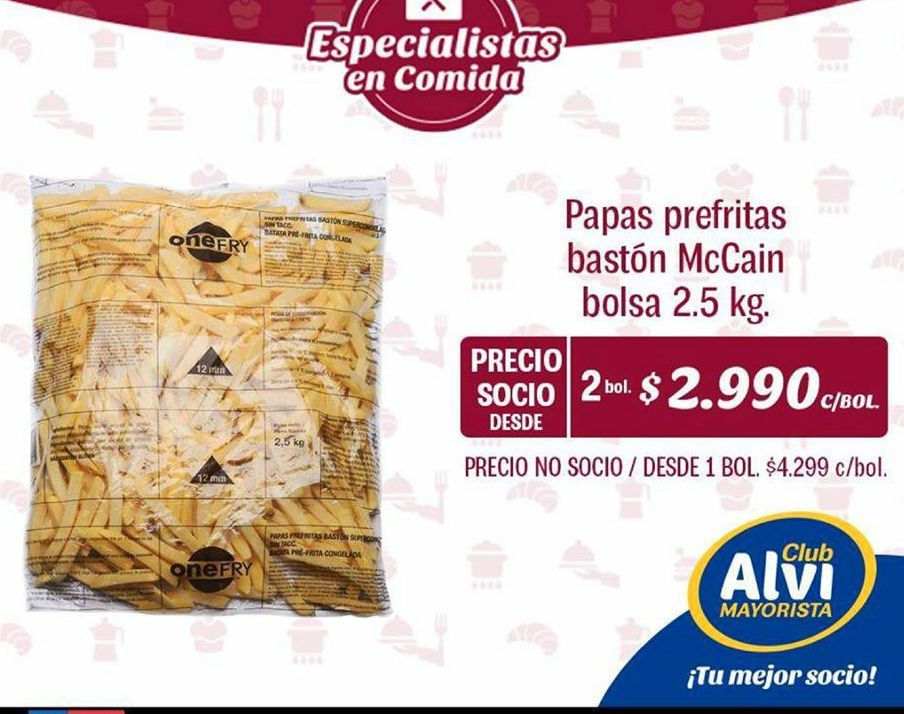 Oferta de Papas fritas congeladas MCCAIN por $2990
