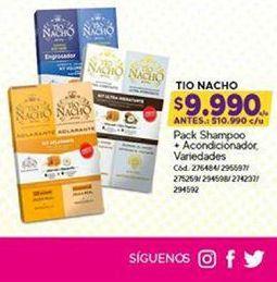Oferta de Shampoo Tío Nacho por $9990