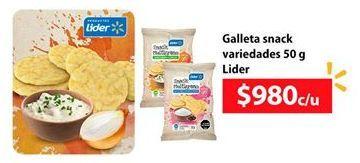 Oferta de Galletassncaks LIDER por $980