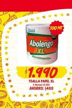 Ofertas de Toallas DE PAPEL  Abolengo por $1990