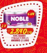 Oferta de Papel higiénico Noble por $2890