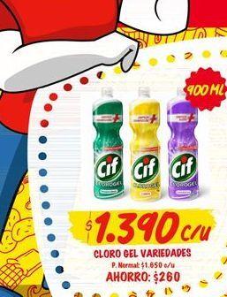 Ofertas de Cloro gel variedades CIF por $1390