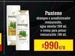 Oferta de Shampoo y acondicionador Pantene por $990