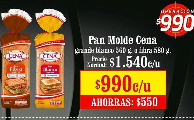 Oferta de Pan de molde CENA por $990